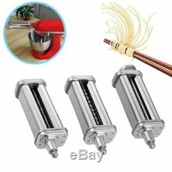 3pcs/set Pasta Roller Cutter + Prep Slicer Compatible For KitchenAid Stand Mixer