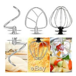 Electric Cake Stand Mixer Blender 6 Speed Dough Bread Food Mixing Bowl Beater