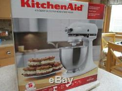 Euc Kitchen Aid Tilt Head Stand Mixer Kr5sswh /stainless Bowl/dough Hook/whisk