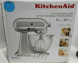 KITCHENAID 5qt Tilt-Head Stand Mixer Glass Bowl Crystal Blue, New (SEE NOTE)