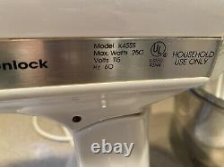 KITCHENAID CLASSIC STAND MIXER K45SS Tilt White with Bowls Attachments & Cover