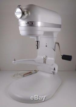 KITCHENAID Professional 600 Stand Mixer Matte White For Parts Powers On