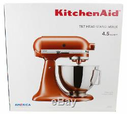 KitchenAid 4.5 Quart Tilt-Head Stand Mixer with 10-Speed Slide Control, Copper