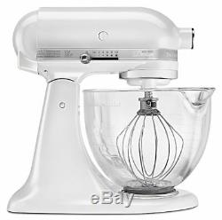 KitchenAid 5-Quart Artisan Design Series Tilt-Head Stand Mixer Frosted Pearl