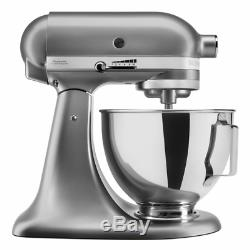 KitchenAid 5KSM95PSECU Stand Mixer with Pouring Shield Silver 4.3L (EU Plug)