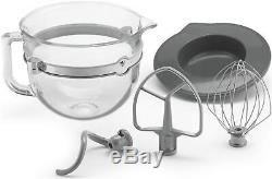 KitchenAid 6-Quart Pro 6500 Design Series Bowl-Lift Stand Mixer Frosted Pearl