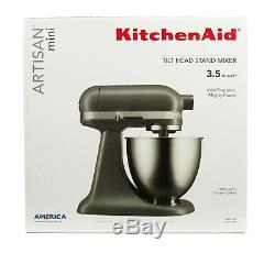 KitchenAid Artisan Mini 3.5 Quart Tilt-Head Stand Mixer Matte Gray
