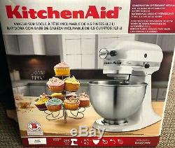 KitchenAid Classic 4.5-Qt Stand Mixer, K45SSWH (New In Box) White Sealed
