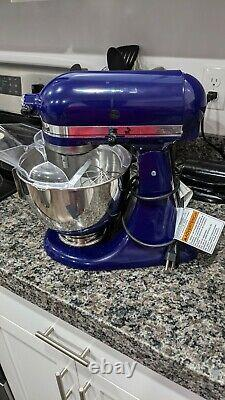 KitchenAid Classic Series Stand Mixer Cobalt Blue with all attachments