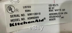 KitchenAid Classic Ultra Power Tilt-Head Stand Mixer with attachments White
