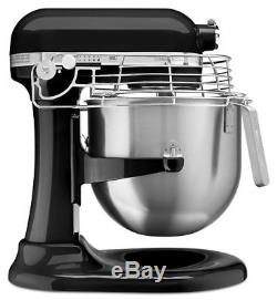 KitchenAid Commercial 8 Quart Bowl-Lift Stand Mixer with Bowl Guard Onyx Black