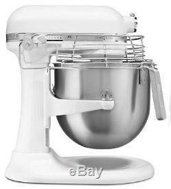 KitchenAid Commercial 8-Quart Bowl-Lift Stand Mixer with Bowl Guard White