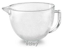 KitchenAid Hammered Glass Bowl K5GBH For 5-Qt Stand Mixer Side Measurement WithLid
