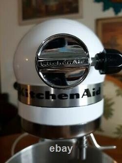KitchenAid K5SS Heavy Duty Series 5qt Stand Mixer White withBowl & Attachments