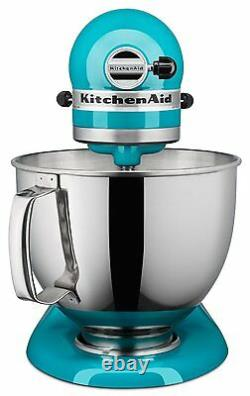 KitchenAid KSM150PSON Artisan Stand Mixer with Pouring Shield, 5 qt Ocean Drive