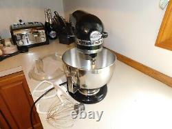 KitchenAid KSM90 300W Ultra Power Stand Mixer Black withBOWL & attachments