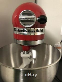 KitchenAid Perfect Cond 5 Quart Stand Mixer Artisan Empire Red W Extras Mint
