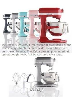 KitchenAid Pro 600 6-qt Bowl Lift Stand Mixer with Flex Edge and Pouring Shield