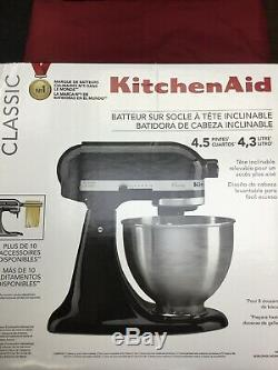 Kitchenaid Classic K45SSOB Tilt Head Stand Mixer (black) NIB