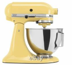 NEW KitchenAid 4.5-quart Tilt Head Stand Mixer withbowl with handle Yellow