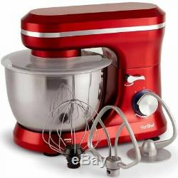 Vonshef 1000W Red Food Stand Mixer Kitchen Aid 4.5L Mixing Bowl Whisk Beater